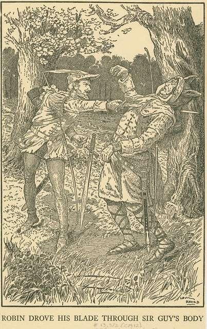 Robin drove his blade through Sir Guy's body.