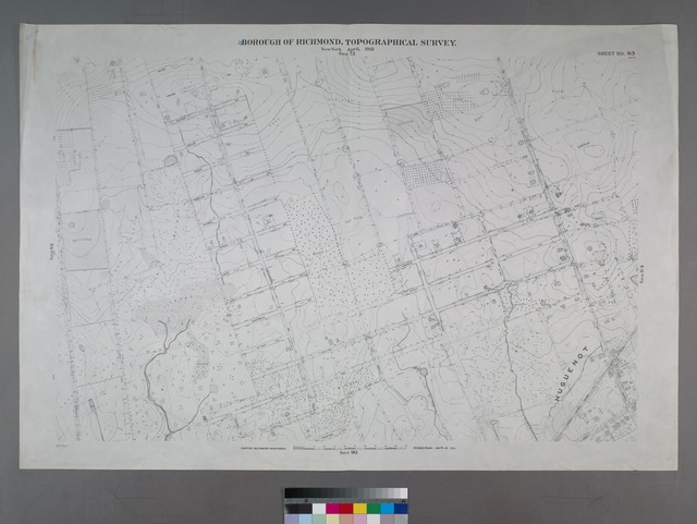 Sheet No. 83. [Includes (Arden Heights) Vineland Avenue, Stafford Avenue, Sinclair Avenue, Sheldon Avenue, Rensalaer Avenue, Rathun Avenue, Ramona Avenue, Ionia Avenue, Edgegrove Avenue, Detroit Avenue, Carlton Avenue, Burchard Avenue, Bradford Avenue, Amboy Road and Huguenot Avenue in Huguenot.]