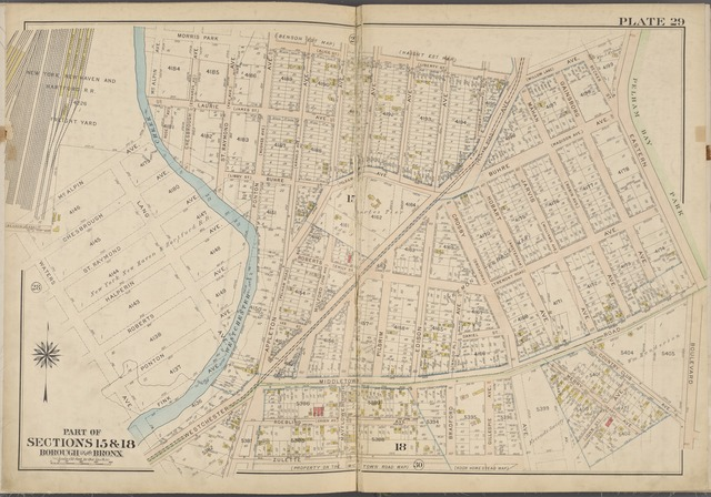 Plate 29 [Map bounded by Morris Park Ave., Eastern Boulevard, Zulette Ave., Waters Ave.]