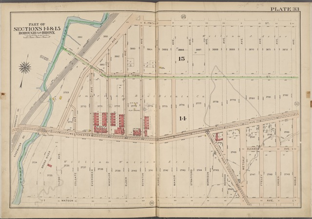 Plate 33 [Map bounded by E. 174th St., Noble Ave., Watson Ave., Bronx River]