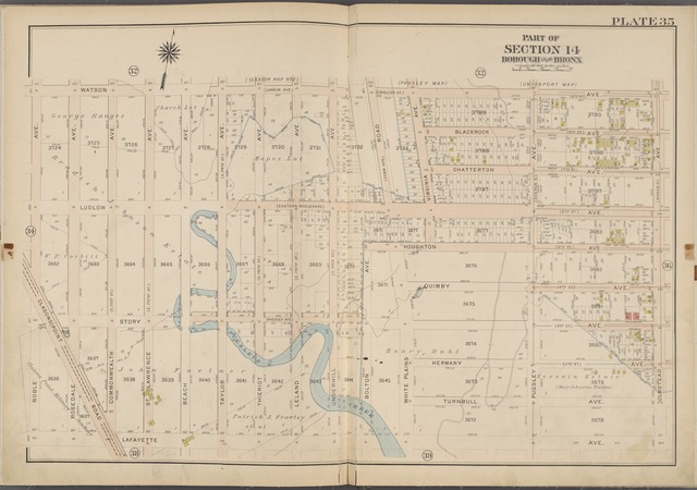 Plate 35 [Map bounded by Watson Ave., Olmstead Ave., Lafayette Ave., Noble Ave.]