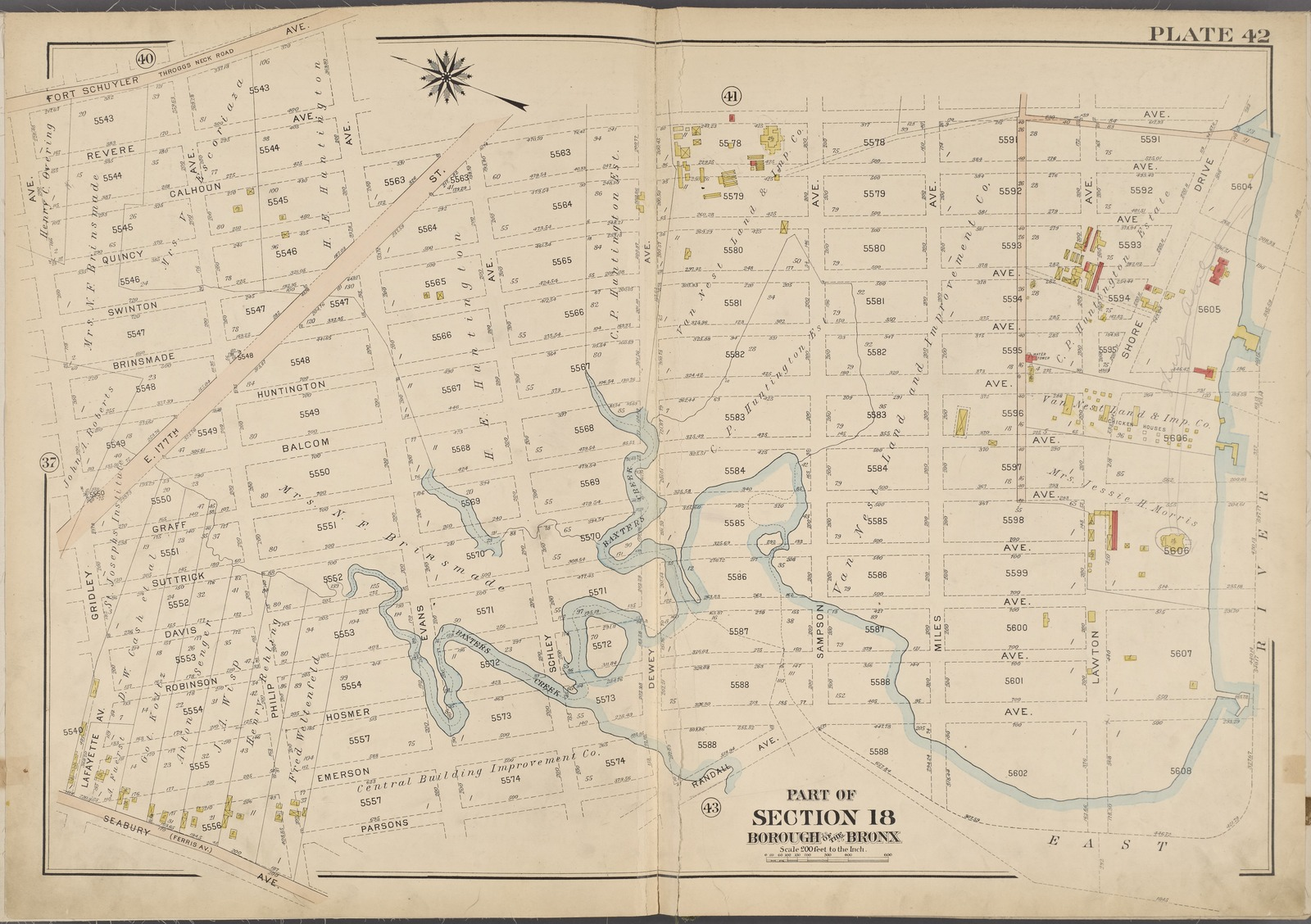 Plate 42 Map Bounded By Fort Schuyler Ave East River Seabury Ave