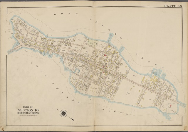 Plate 45 [Map bounded by Long Island Sound, Belden Point, Bridge St.]
