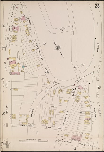 Bronx, V. 13, Plate No. 28 [Map bounded by Giles Pl., Perot St., Bailey Ave.]