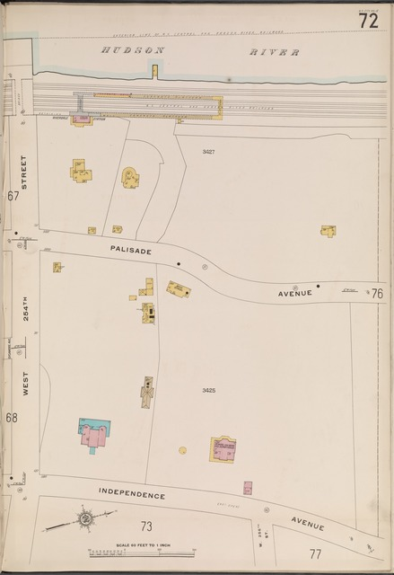 Bronx, V. 13, Plate No. 72 [Map bounded by Hudson River, Independence Ave., W. 254th St.]