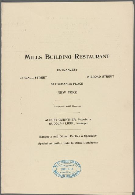 Mills Building Restaurant