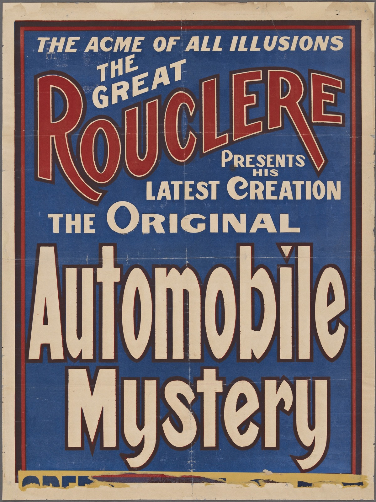 The great Rouclere: the original automobile mystery
