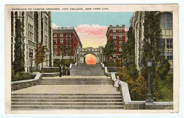 Entrance to campus grounds, City College, New York City