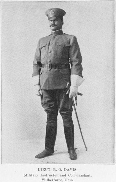 Lieut. B. O. Davis. Military Instructor and Commandant. Wiberforce, Ohio.
