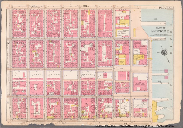 Plate 15: [Bounded by Stanton Street, Rivington Street, East Street, Grand Street, and Willet Street]