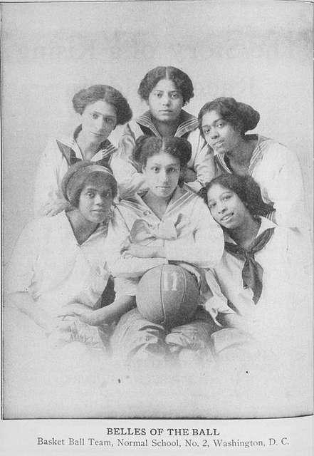 Belles of the ball; Basket ball team, Normal School No. 2, Washington, D.C.