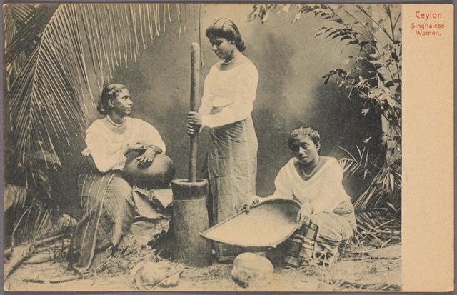 Ceylon.  Singhalese women.