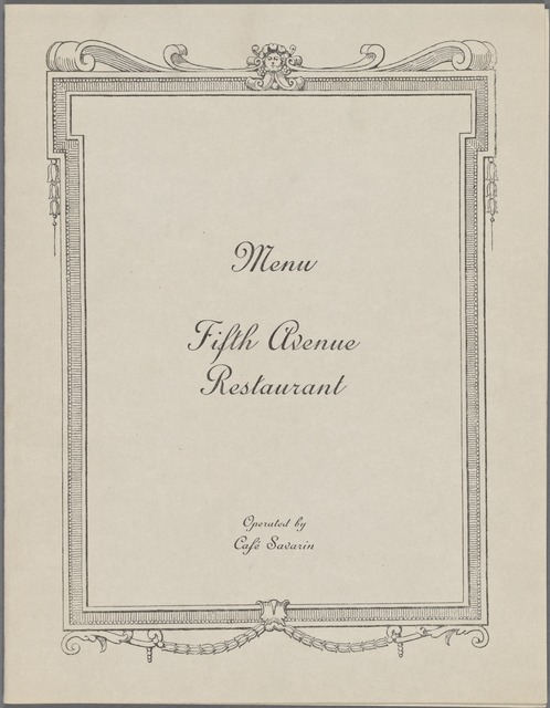 Fifth Avenue Restaurant
