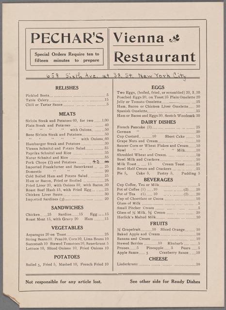 Pechar's Vienna Restaurant