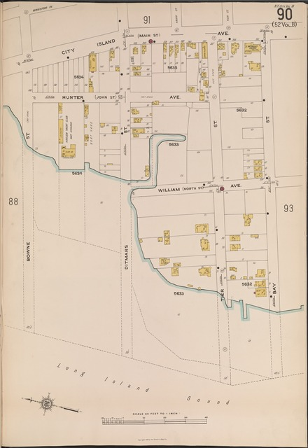 Bronx, V. 18, Plate No. 90 [Map bounded by City Island Ave., Bay St., Bowne St.]