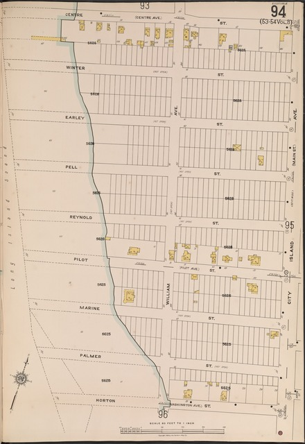 Bronx, V. 18, Plate No. 94 [Map bounded by Centre St., City Island Ave., Horton St., Long Island Sound]
