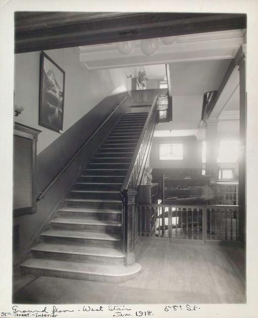 Ground Floor, West Stair, Stairway to Second Floor [58th Street Branch]