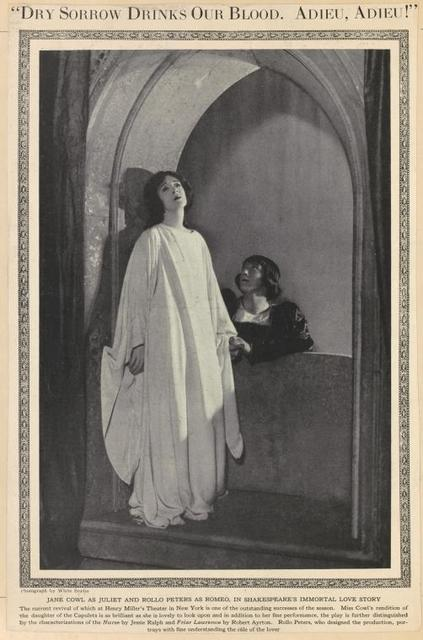 Jane Cowl and Rollo Peters in Romeo and Juliet.