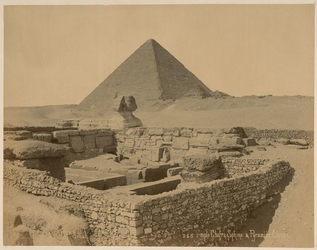 Temple Chafre Sphinx & Pyramide Cheops.