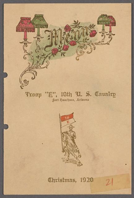 Troop E 21: Fort Huachuca, Arizona, 10th Cavalry, Christmas