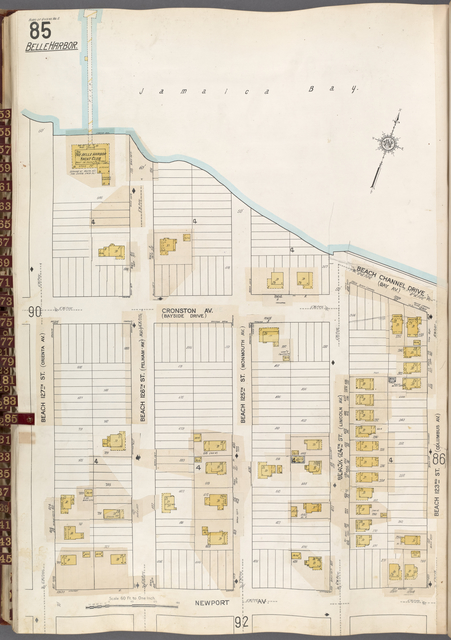 Queens V. 8, Plate No. 85 [Map bounded by Jamaica Bay, Beach 123rd St., Newport Ave., Beach 127th St.]
