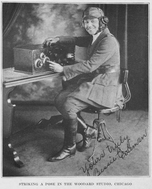 Bessie Coleman, aviatrix.