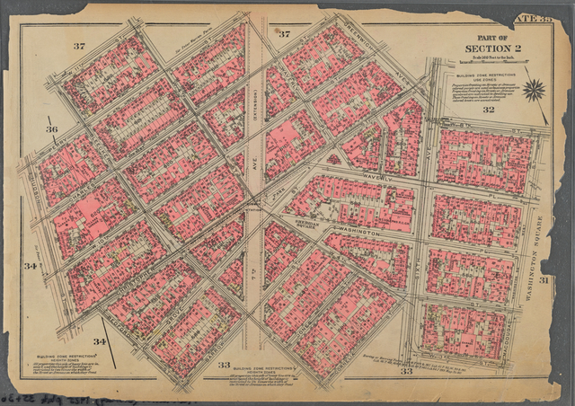 Plate 35, Part of Section 2: [Bounded by W. 11th Street, W. 4th Street, Perry Street, Waverly Place, Charles Street, Greenwich Avenue, Sixth Avenue, W. 8th Street, MacDougal Street, W. 3rd Street, Sixth Avenue, Cornelia Street, Bleecker Street, Barrow Street, Bedford Street, Christopher Street, Hudson Street, Perry Street and Bleecker Street]