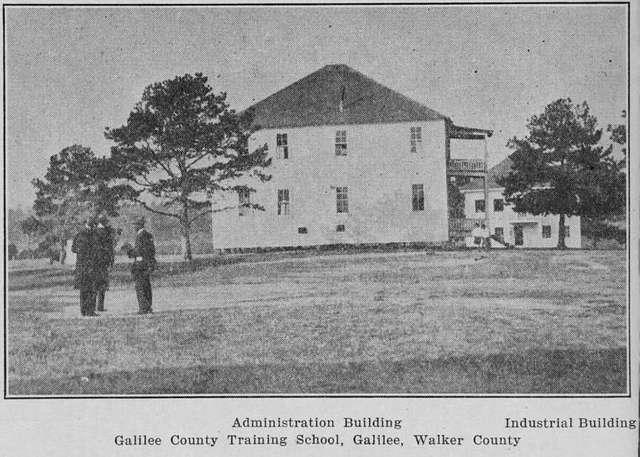 Administration building industrial building Galilee County training school, Galilee, Walker County.