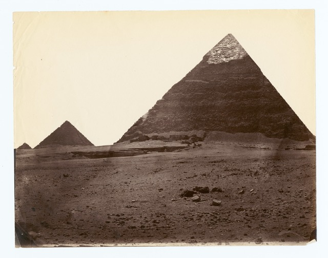 Pyramid of Chephren at Gizah.