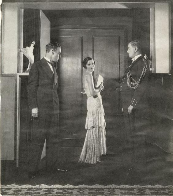Leslie Howard, Gertrude Lawrence, and Reginald Owen in the stage production Candlelight