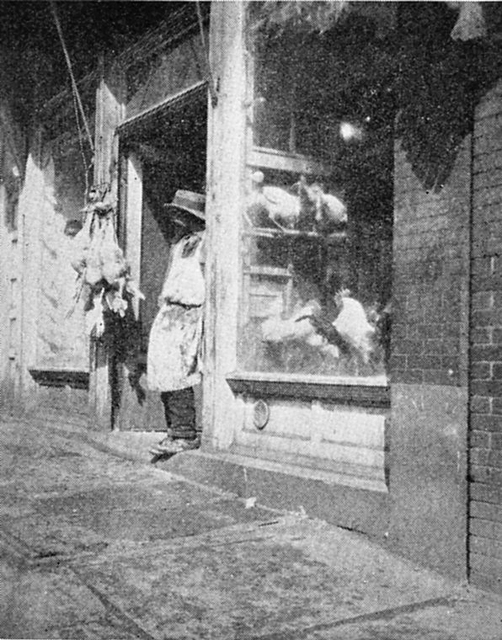 Negro butcher, Hill District, Pittsburgh