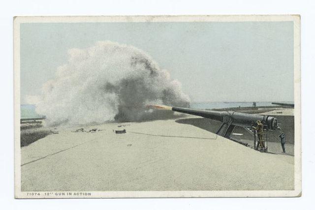 """12"""" gun in Action, Naval"""