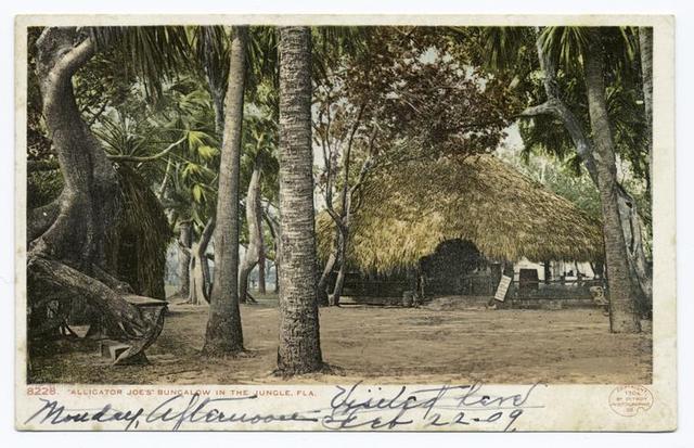 Alligator Joe's Bungalow in the Jungle, Palm Beach, Fla.