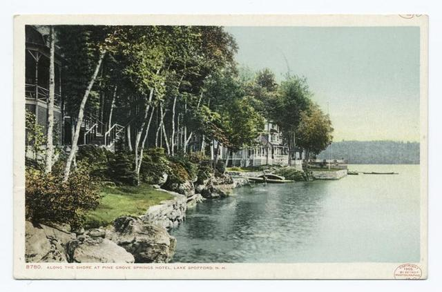 Along the Shore, Lake Spofford, Pine Grove Springs Hotel, Chesterfield, N. H.