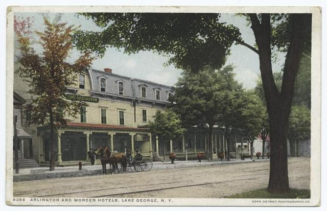 Arlington and Worden Hotels, Lake George, N. Y.
