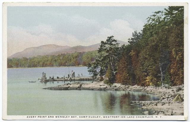 Avery Point and Wensley Bay, Camp Dudley, Westport-on-Lake Champlain, N. Y.