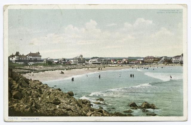Bathing at York Beach, York Beach, Me.