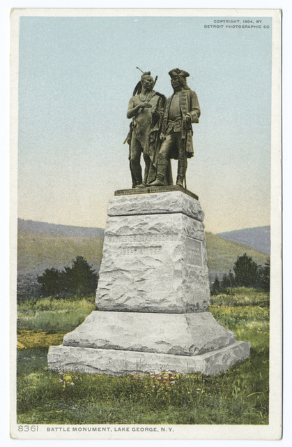 Battle Monument (front), Lake George, N. Y.