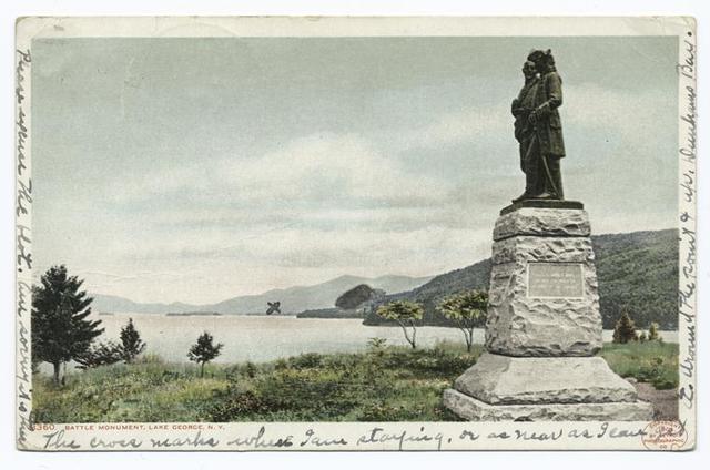 Battle Monument (side), Lake George, N. Y.
