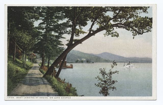 Boat Landing at Hague, Lake George, N.Y.