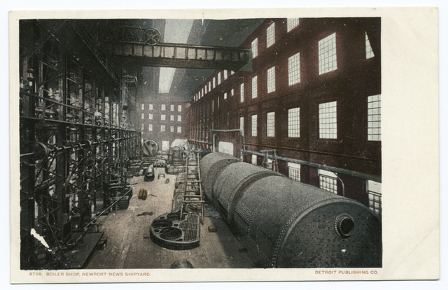 Boiler Shop, Shipyard, Newport News, Va.