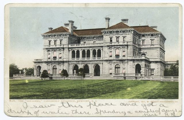 Breakers, Vanderbilt Residence, Newport, R. I.