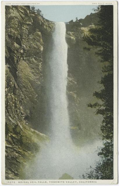 Bridal Veil Falls, Yosemite Valley, Calif.