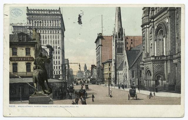 Broad Street north from City Hall, Philadelphia, Pa.
