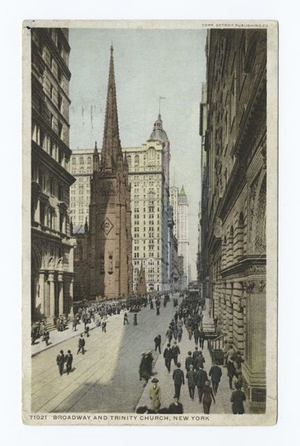 Broadway and Trinity Church, New York, N. Y.