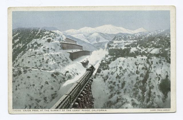 Cajon Pass, at the Summit of the Coast Range, California