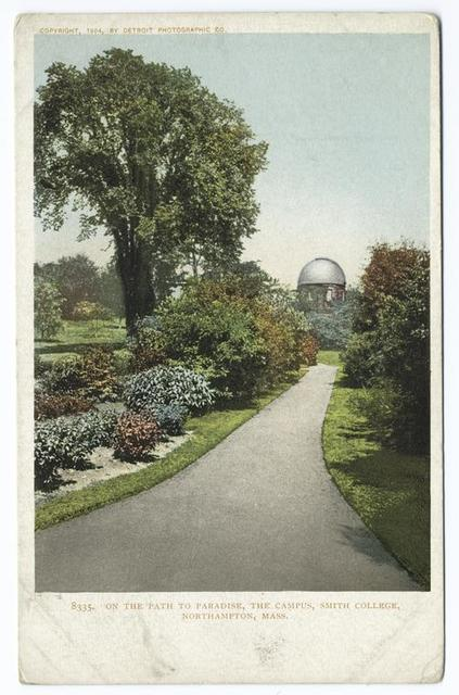 Campus and Path to Paradise, Smith College, Northampton, Mass.