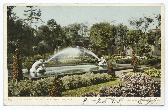 Canfield Park Fountain, Saratoga, N. Y.