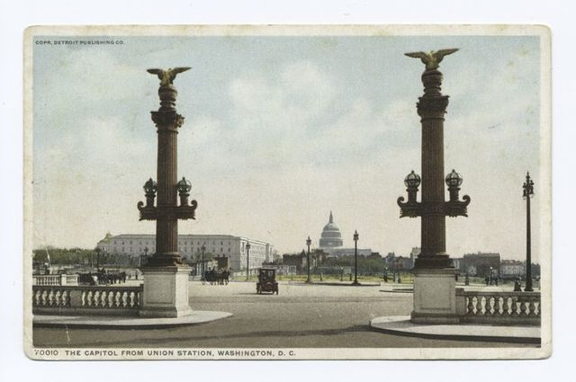 Capitol from Union Station, Washington, D. C.