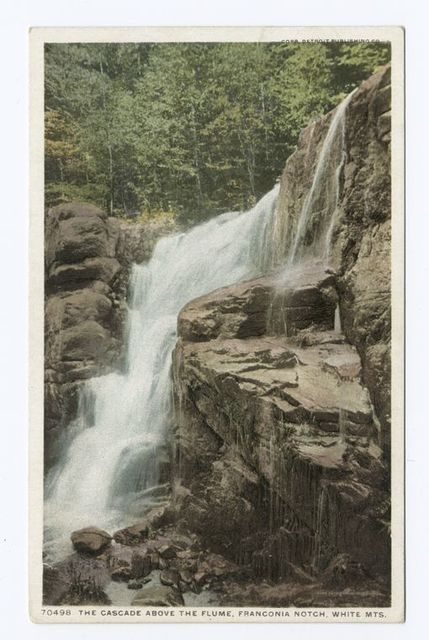 Cascade above Flume, Franconia Notch, New Hampshire